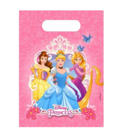 Prinsessen uitdeelzakjes 6 stuks