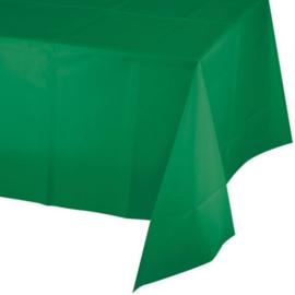 Tafelkleed groen plastic 137x274cm