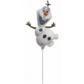 Olaf Frozen folie ballon op stok 25cm