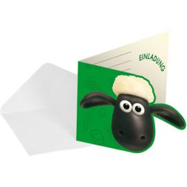 Shaun the sheep uitnodigingen 8 stuks