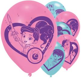 Nella de ridderprinses ballonnen 6 stuks 30cm