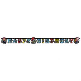 Piraten letterslinger 180x15cm