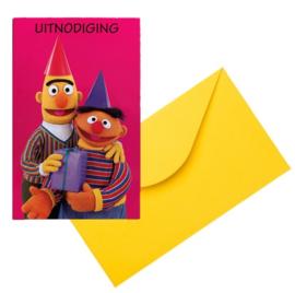 Bert en ernie uitnodigingen 6 stuks