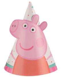 Peppa Pig feesthoedjes klein 8 stuks