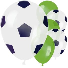 Voetbal ballonnen 6 stuks 23cm
