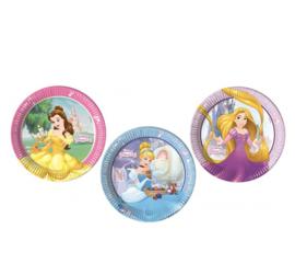 Prinsessen borden 8 stuks 23cm