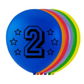 Ballonnen 2 jaar 8 stuks