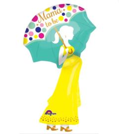 Zwangere vrouw folie ballon 84cm