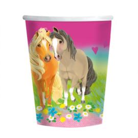 Paarden pony bekers 8 stuks 250ml