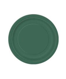 Borden groen 23cm 8 stuks