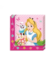 Alice in Wonderland servetten 20 stuks