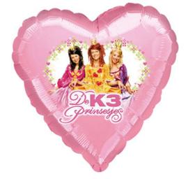 K3 prinsesjes folie ballon 45cm