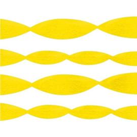 Slinger geel crepepapier 6m