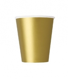 Bekers goud 14 stuks