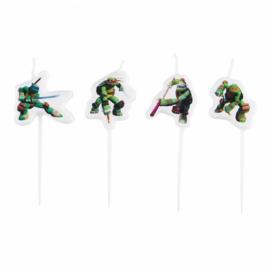 The Ninja Turtles kaarsjes 4 stuks