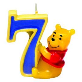 Winnie de Poeh taartkaars cijfer 7