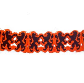 Oranje leeuw voetbal slinger 4m
