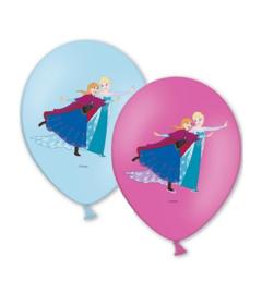 Frozen ballonnen Anna en Elsa 6 stuks