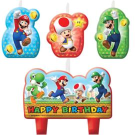 Super Mario kaarsjes 4 stuks