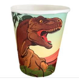 Dinosaurus bekertjes 8 stuks 250ml