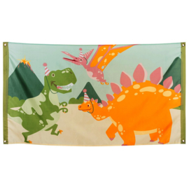 Dinosaurus vlag polyester 90x150cm