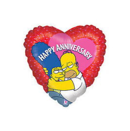 Simpsons Homer Marge folie ballon 45cm