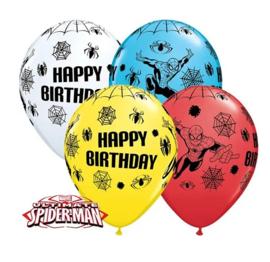 Spiderman ballonnen 5 stuks