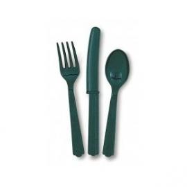 Plastic bestekset groen