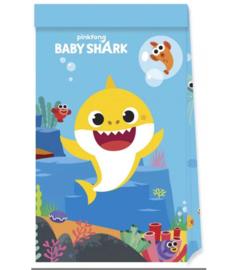 Baby Shark feestzakjes papier 4 stuks