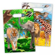Safari uitdeelzakjes 8 stuks