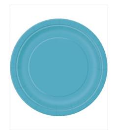 Borden turquoise 18cm 20 stuks