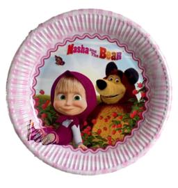 Masha en de beer borden 8 stuks 23cm