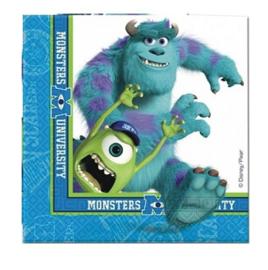 Monsters university servetten 20 stuks 33x33cm