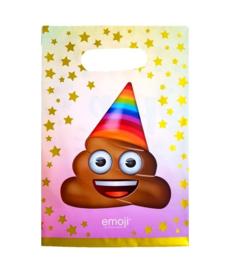 Emoji Poop feestzakjes 10 stuks