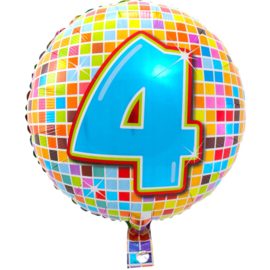 Vier jaar folie ballon 43cm