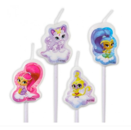 Shimmer and Shine kaarsjes 4 stuks