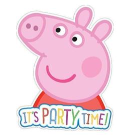 Peppa pig uitnodigingen 6 stuks