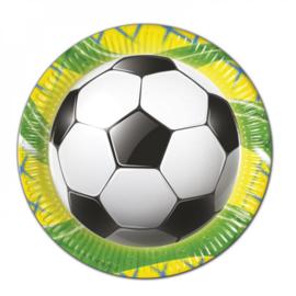 Voetbal borden 23cm 8 stuks
