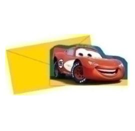 Cars McQueen uitnodigingen 6 stuks
