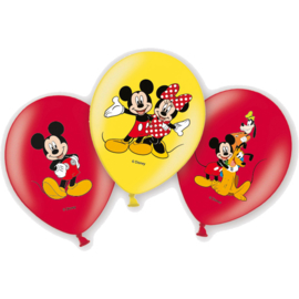 Mickey Mouse ballonnen 6st 27,5cm