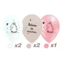 Eenhoorn ballonnen 5 stuks