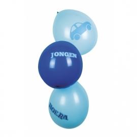 Geboorte jongen ballonnen per 6 stuks