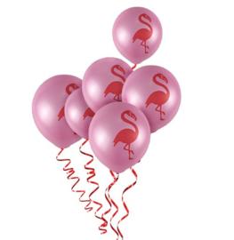 Flamingo ballonnen 5 stuks