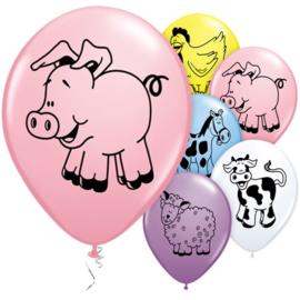 Boerderij ballonnen 5 stuks