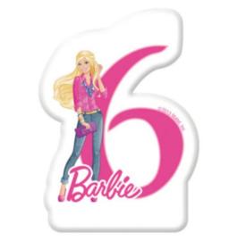 Barbie taartkaars cijfer zes