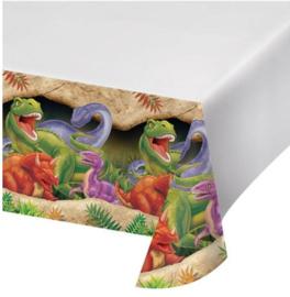 Dinosaurus tafelkleed plastic 137x274cm