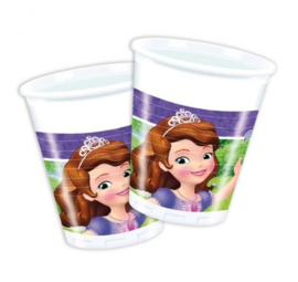 Sofia the First bekers plastic 8 stuks
