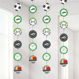 Voetbal hangdecoratie 1,3m