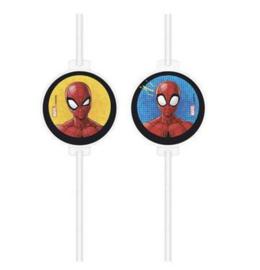 Spiderman rietjes 4 stuks