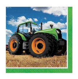 Boerderij tractor servetten 16 stuks 33cm